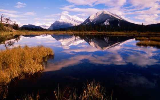 lakes, banff, rundle, national, park, vermillion, mount, канада, озеро, альберта,