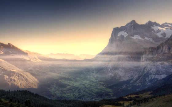 туман, горы, долина, небо, лес, высоком, vietnam, природа,