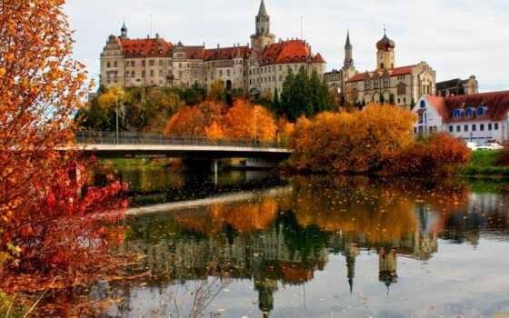 sigmaringen, castle, schloss, река, мост, german, германия, metodicheskii, professional