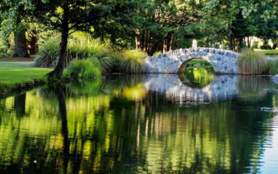 мостик, парк