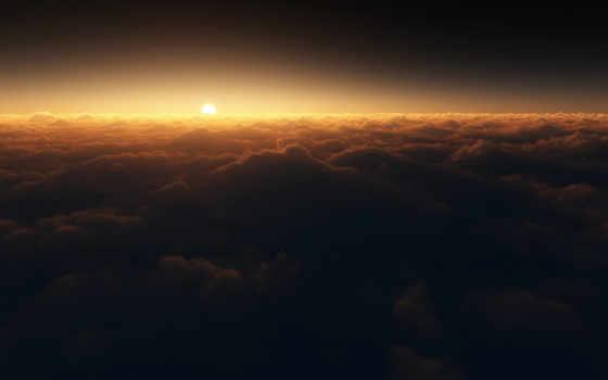 солнце, облака Фон № 16543 разрешение 1920x1200
