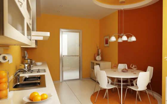 dizain, interer, кухни