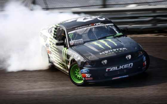 energy, monster, mustang, drift, ford, falken, занос, дрифт,