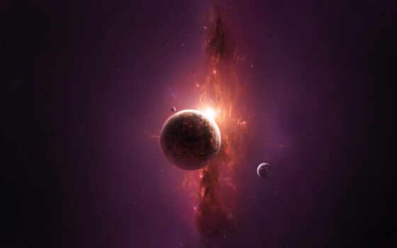 фон, cool, fantasy, ipad, best, планета, свечение, circle,
