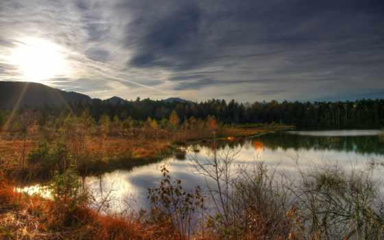 осень, использование, deviantart, pozadine, телефон, озеро, mobile,