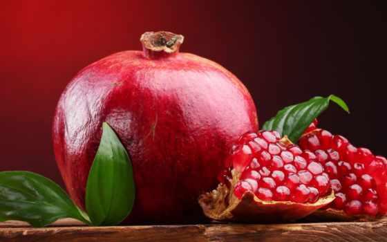гранат, плод, fruits, desktop, листья, ipad, fresh,