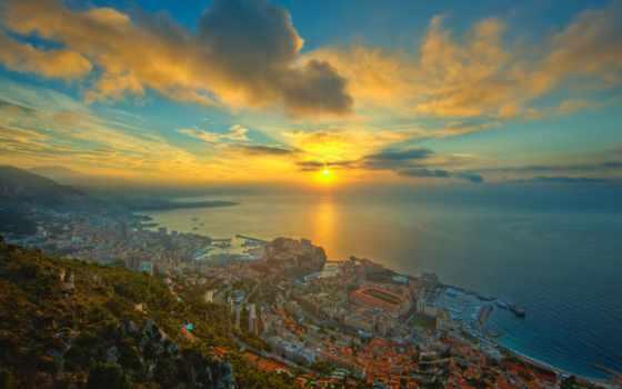 monaco, море, город, побережье, websamba,