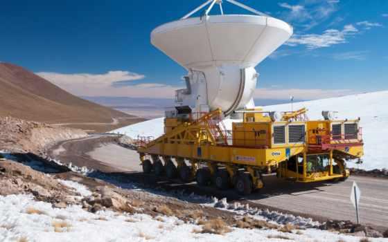 maior, mundo, telescópio, alma, radiotelescópio, para, construção, ест, vai,