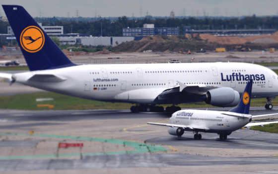 airbus, boeing, самолеты, lufthansa, пассажирские, самолёт, картинку, higher,