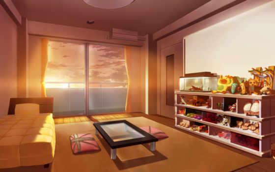 anime, рассвет, утро, раннее, sunshine,