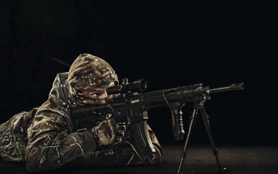 оружие, снайпер, солдат