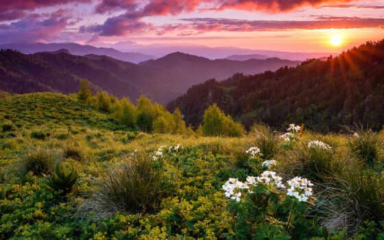 россия, день, утро, хороший, гора, природа, биг, фото
