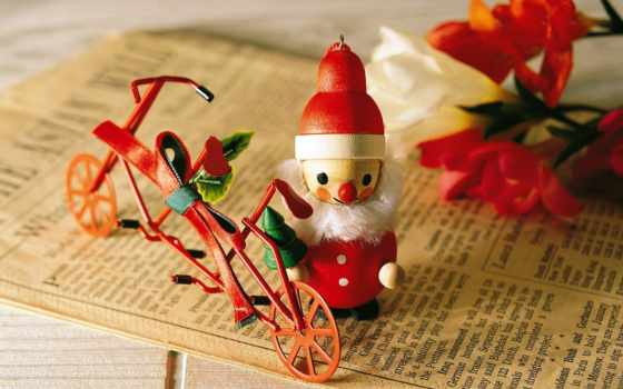 new, клаус, christmas, year, мороз, bike, santa, дед, xmas, даже, claus, игрушечный, приедет, потепление, глобальное, несмотря,