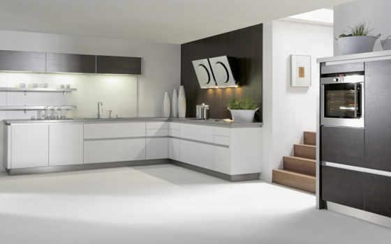 кухня, белая, дизайн