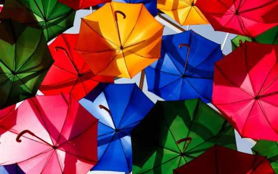 яркие, разноцветные, телефон, зонтики, текстуры, зонты, вк, iphone, заставки,
