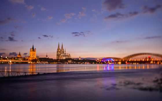 cologne, германия, german, город, desktop, ночь, free, изображение,