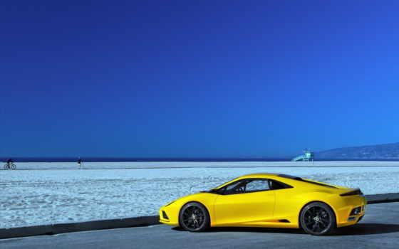 машины, ferrari, lotus, scuderia, авто, yellow, стоит, близко, разрешениях, категория, разных,