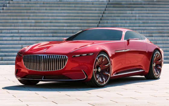 mercedes, maybach, vision, red, car, concept, coupe,
