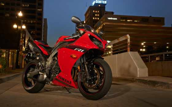 yamaha, yzf, мотоцикл, мотоциклы, спортбайк, bike, red, город,