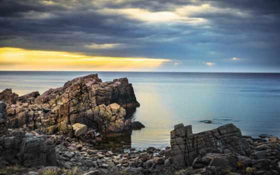море, берег, камни, скалы, природа, butter, настроение, мороженое, mikoshiba, milk,
