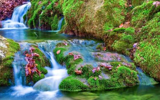 водопад, природа, фотообои