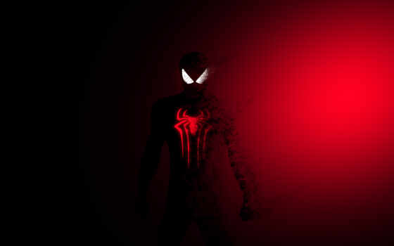 red, dark, мужчина, spiderman, паук, artwork, artist, behance, art, супергерой, digital