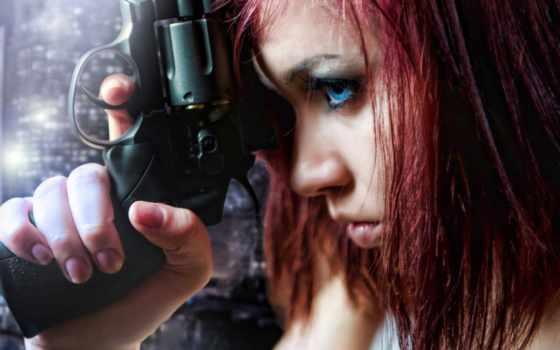 stock, photos, пистолет, sexy, девушка, free, holding, high,