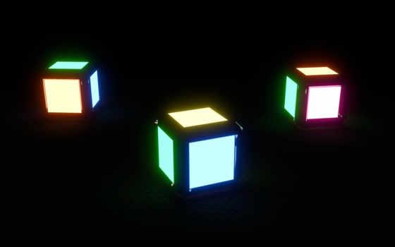 кубик, rendering, blender