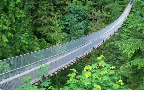 мост, капилано, канада, ванкувера, подвеска, достопримечател, выдающихся, является, самых, capilano,