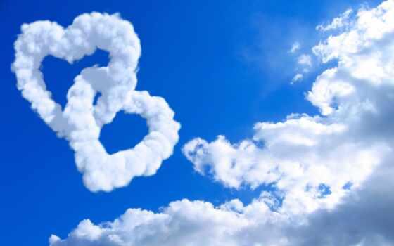 oblaka, сердце, сердца