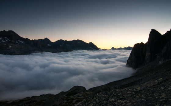 швейцария, swiss, утро, качественные, предпросмотром, mountains,