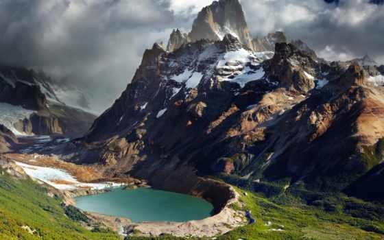 patagonia, аргентина, горы, озеро, ущелье, природа, панорама,