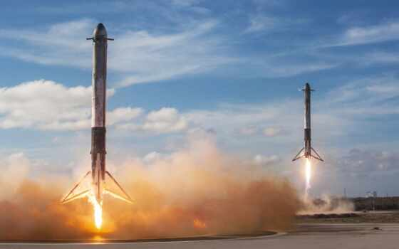 launch, falcon, spacex, rocket, heavy, космос,