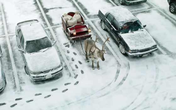 подборка, картинку, улица, фотографий, год, новый, приколы, christmas, зима, следы, машины, скоро, юмор, парковка, сани, подарки, прикол, олень, мешки,