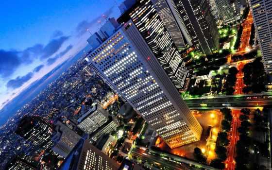 ночь, город, города
