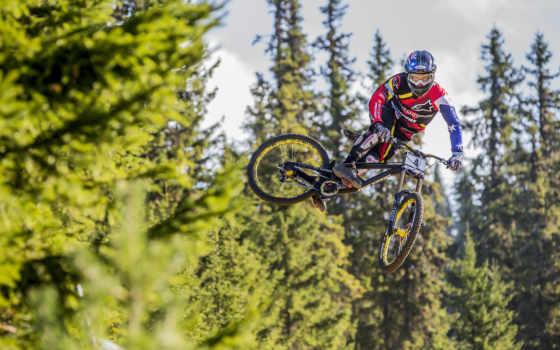 велосипед, спорт, прыжок