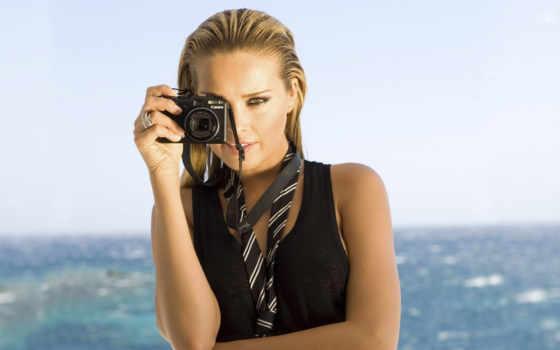 девушка, canon, фотоаппарат