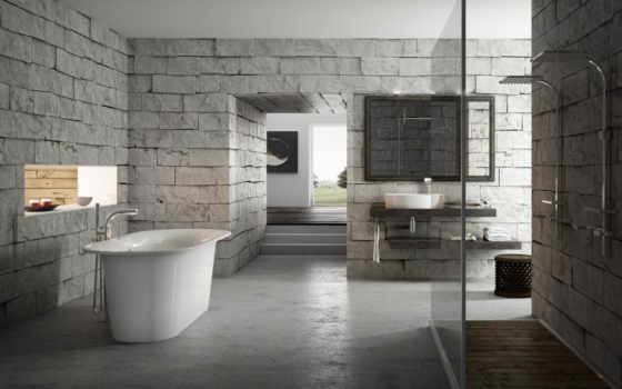 interer, ванная, ванна