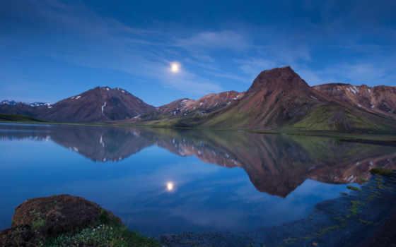 iceland, горы, озеро