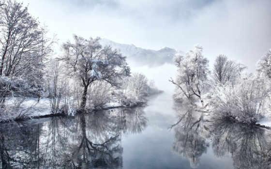 природа, заставки, снег