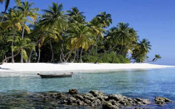 острова, ocean, пальмы, остров, пляж, fiji, sun, песок, мальдивские, water,