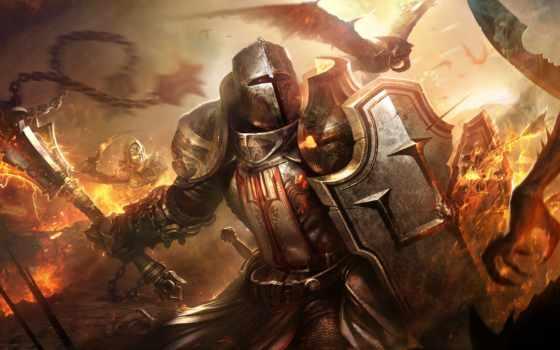 diablo, крестоносец, armour, воин, демоны, video, шлем, нечисть, hyde,