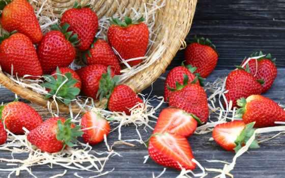 клубника, фартуки, ягоды