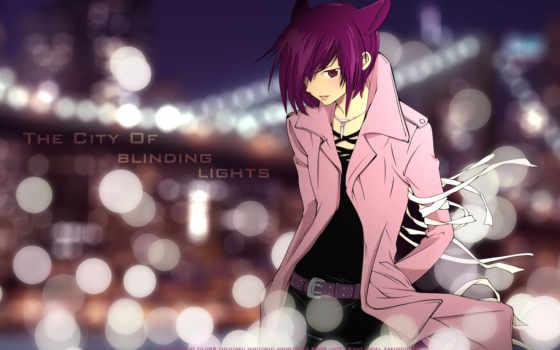 anime, волосы, кот, purple, loveless, ears, nekomimi, boy,
