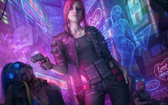 cyberpunk, fantastic, art, fan