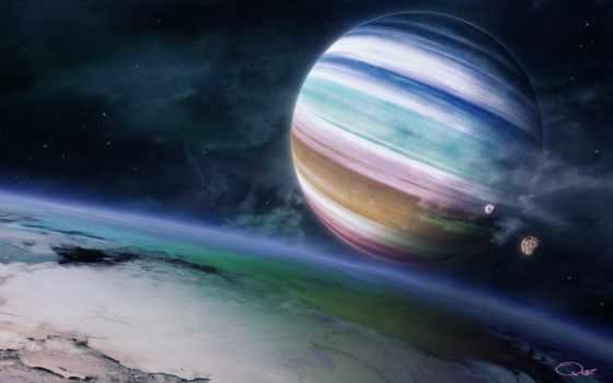 планета, гигант, газовый, hintergrundbilder, картинка, bunte, feel, rainbow, gasriesenplaneten, fondos, colorful, planeta, gigante, colorido, pantalla, ecran, fonds,