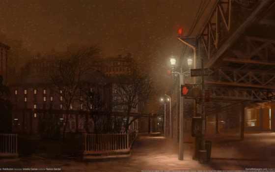 ночь, улица, свет