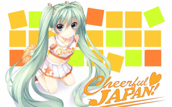 anime, vocaloid, desktop, miku,