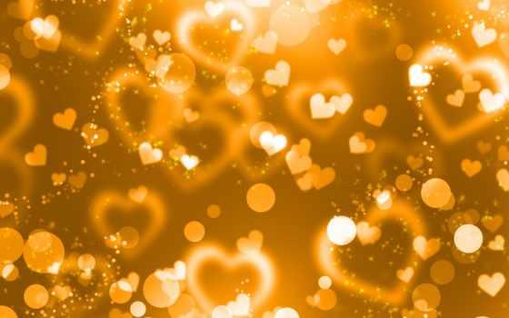 yellow, сердечки, gold,