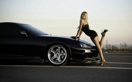 девушка, авто, машина, car, devushki, красивых, машину, blonde, платье, машине,